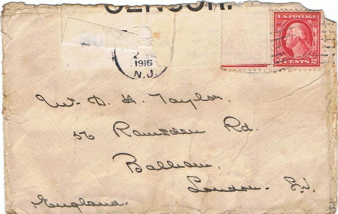 1916 USA envelope to David 001